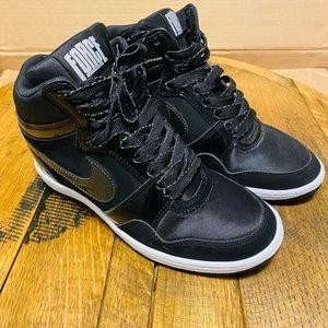 Nike Force SkyHigh Hidden Wedge Shoes Black Size 7